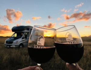 Couple Drinking Wine on Vineyard