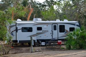 RV Parked in Campground