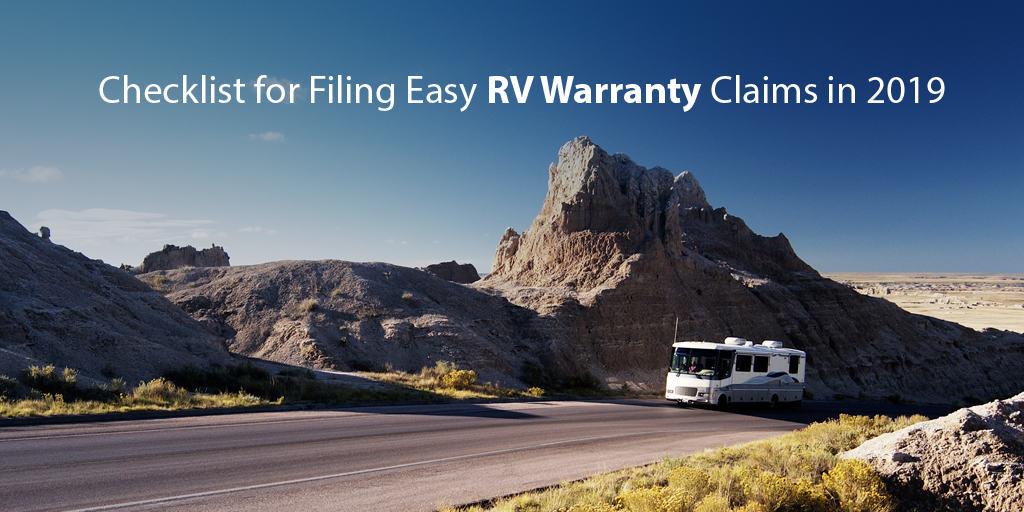 Checklist for Filing Easy RV Warranty Claim in 2019