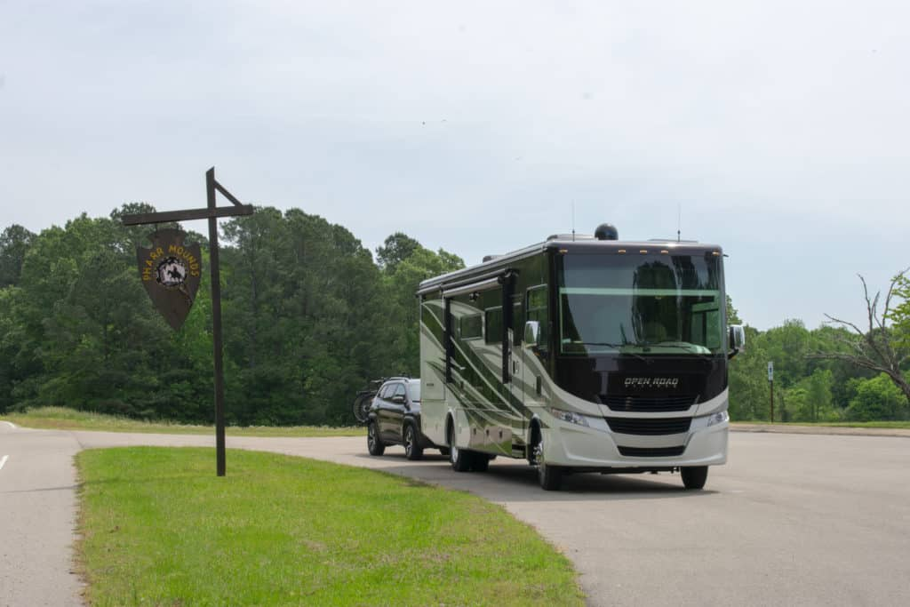 New Class A RV and Tow Vehicle