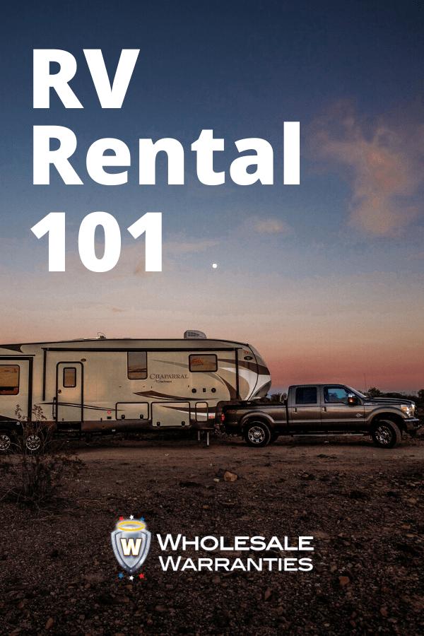RV Rental 101 Pinterest
