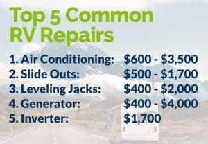 Top 5 Common RV Repairs