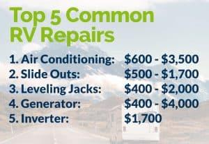 Top 5 Common RV Repairs