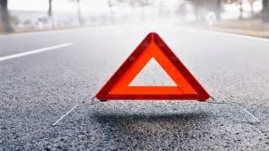 hazard sign in street