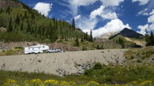 towable RV in spring
