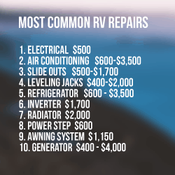 Most Common RV Repair Costs