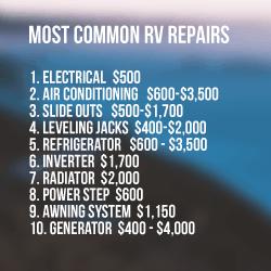 Most Common RV Repair Costs